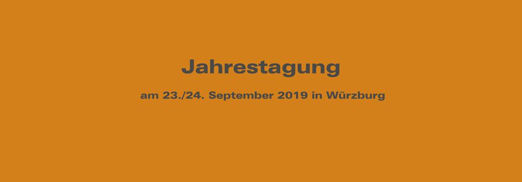 Jahrestagung am 23./24. September 2019 in Würzburg - UniNetzPE