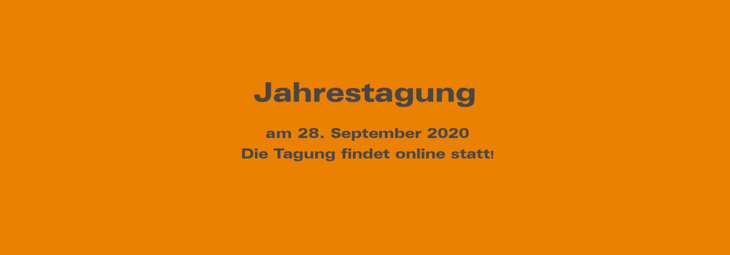 Banner Jahrestagung 28. Sept. 2020 - online